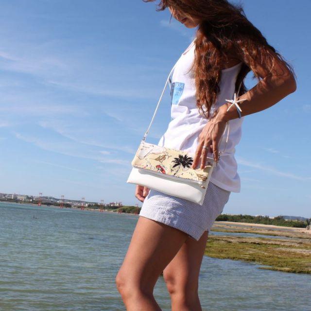 海/ビーチ/マリン/リゾート/ファッション/パームシーズン/ 沖縄/通販 /ハワイ/フラミンゴ/ポシェット/ポーチ/クラッチバッグ